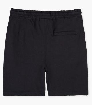 Black shorts with stretch waistband.