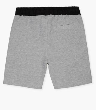 Adjustable drawstring shorts with stretch waistband.