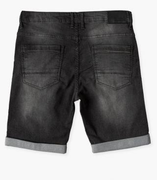 Shorts with custom pleather tag.