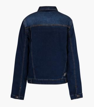 Denim jacket with zip.
