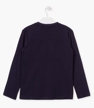 Long-sleeved t-shirt with front panels.