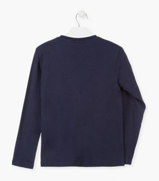 Long-sleeved top crafted from cotton.
