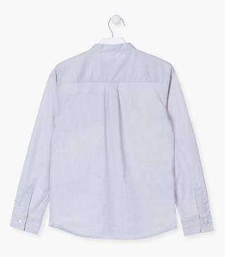 Long sleeve cotton shirt with jacquard.