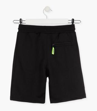 Interlock shorts in black.