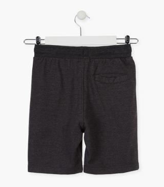 Unnapped plush shorts in grey.