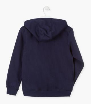Lined hood sweatshirt in unnapped plush.