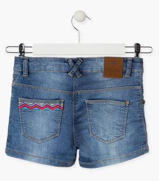 Shorts crafted from denim.
