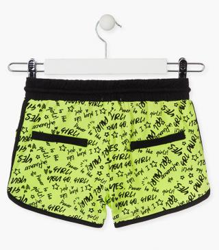 Jersey shorts in green.