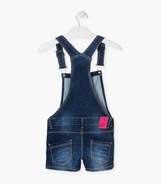 Summer dungaree with sequin patches.