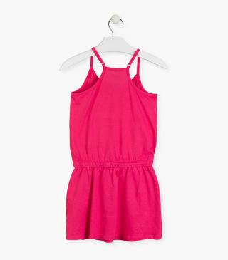 Pink dress with adjustable straps.