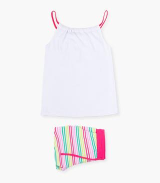 Striped shorts & strappy top set.
