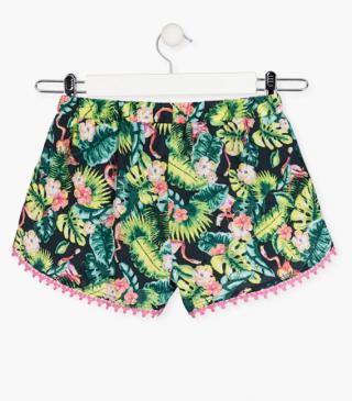 Tropical pattern shorts.