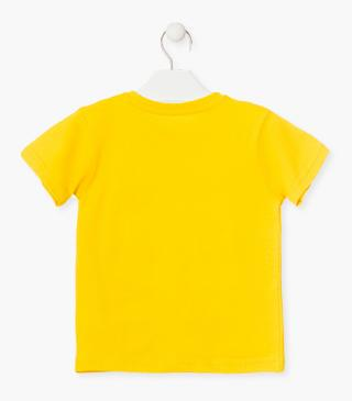 Short-sleeved top in yellow.