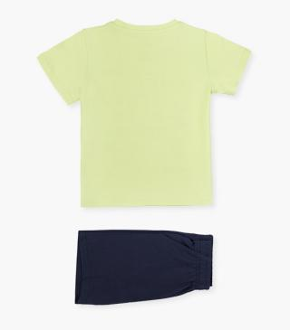 Set featuring shorts & short sleeve tee.