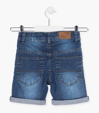 Shorts crafted from denim fabric.