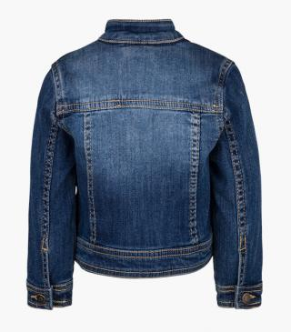 Rhinestone front denim jacket.