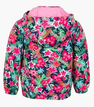 Multicoloured all-over floral print jacket.
