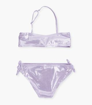 Pale purple bikini set.