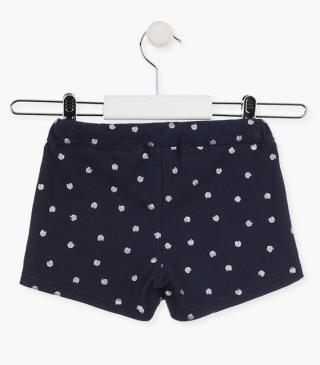 Glittery apple motif shorts.