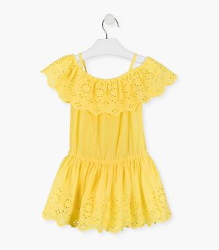 Decorative ruffle top dress.
