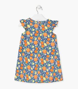 All-over fruit print dress.