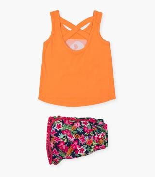 Sequin parrot top & shorts set.