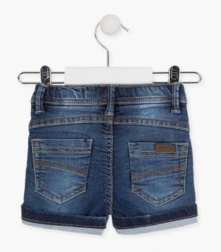 Shorts with roll-up detail and drawstring waist.