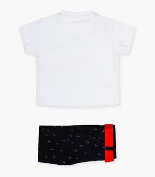 Navy shorts & t-shirt set.