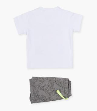 Set featuring print t-shirt & shorts.