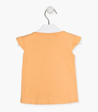 Short sleeve bow t-shirt in jersey.