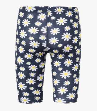 All-over daisy print leggings.