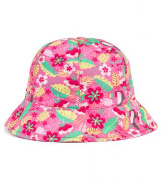 All-over toucan and flower print hat.