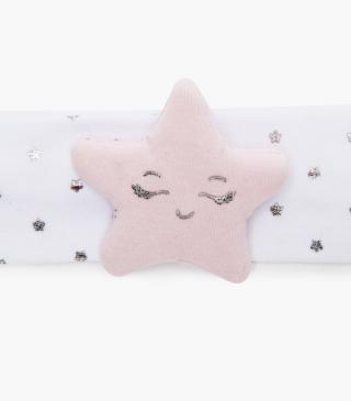 Raised star patch hairband.