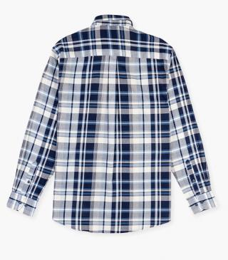 Plaid shirt crafted from cotton.