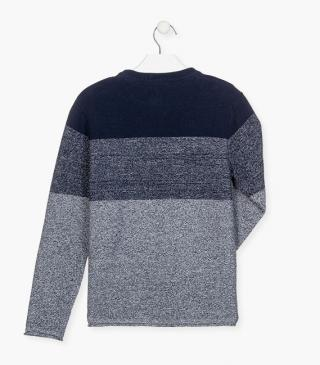 Knit jumper with a round neck.