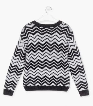 Abstract knit jumper.