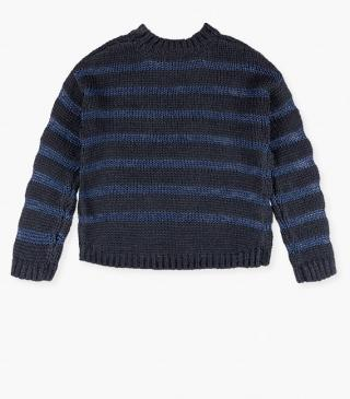 Striped wool jumper.