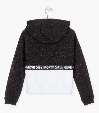 Silver detailing sweatshirt in plush.