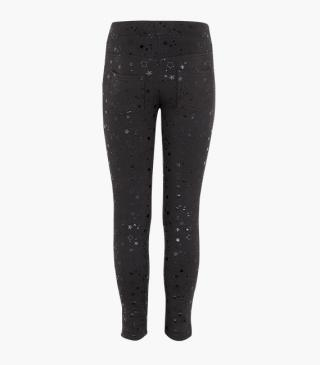 Leggings with printed stars.