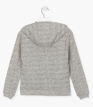 Faux-wool sweatshirt.