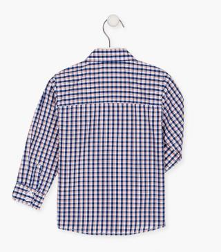 Check shirt with a breast pocket.