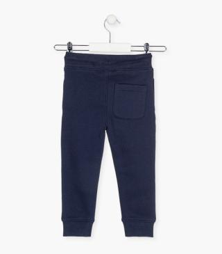 Piqué trousers with cord.