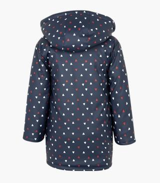 All-over heart print jacket.