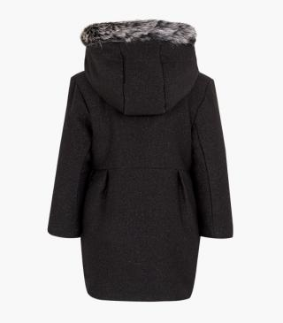 Woollen coat featuring sparkly detailing.