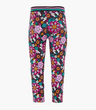 All-over floral motif leggings.