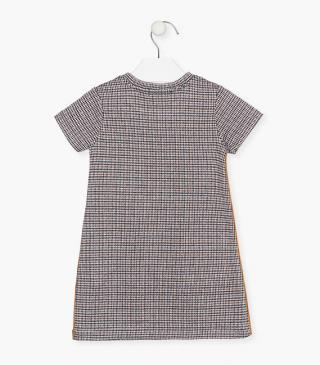 Houndstooth short sleeve dress.