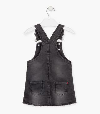 Pinafore dress with stars on the front.