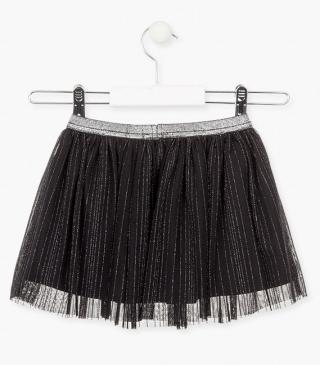 Abstract tulle skirt.