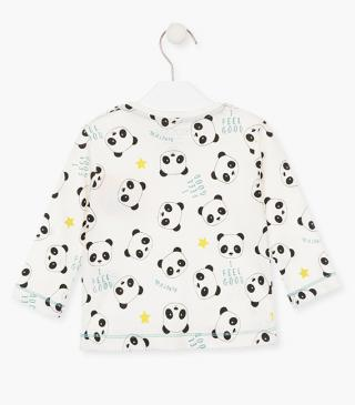 T-shirt with printed pandas.