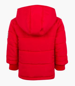 Quilted jacket in red.